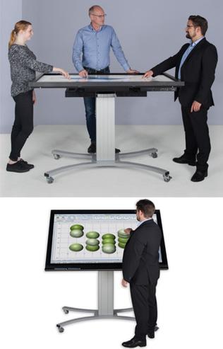 Support électrique orientable mode table