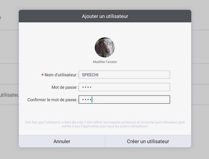 créer des utilisateurs sur écran interactif Clevertouch