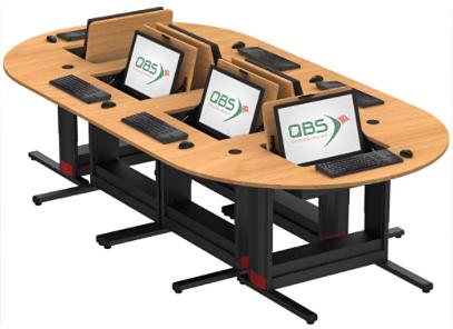 table informatique écran escamotable